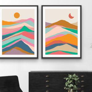 Mountain Pass | Two Piece Colourful Geometric Print Set