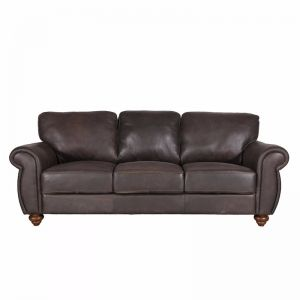 Mountbatten Leather 3 Seater Sofa | Espresso