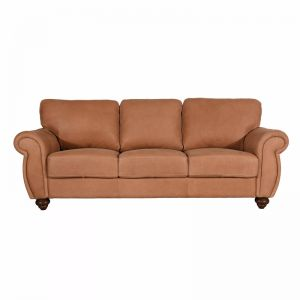 Mountbatten Leather 3 Seater Sofa | Tan