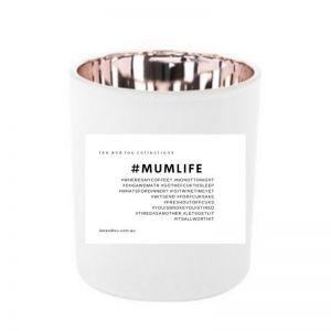 Mum Life   Quote Candle By Lee & Lou
