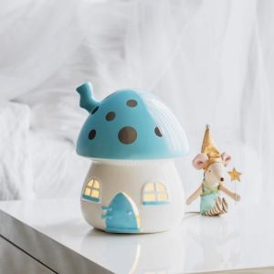 Mushroom Nightlight Blue and Silver