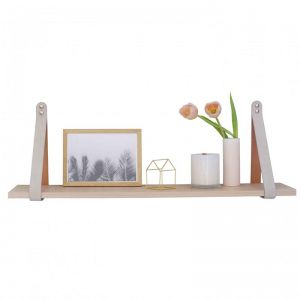 Mushroom Suede Leather Strap Shelf | Nordic