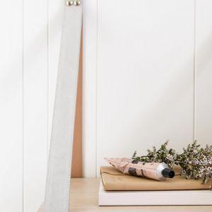 Mushroom Suede Strap Sidetable | Nordic