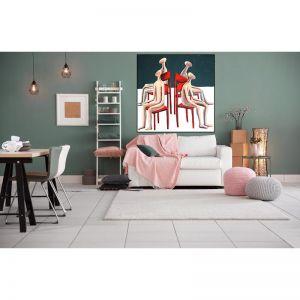 Musical Chairs   Framed Canvas, Framed Print, Unframed Print   by Kitti Narod