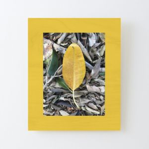 Mustard Leaf | Printed Wood
