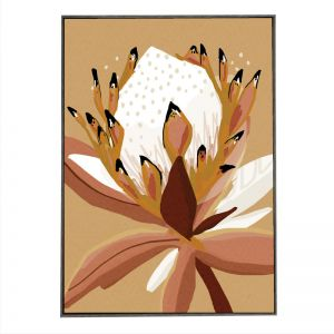 Mustard Protea | Framed | Block Shop Exclusive Art Print