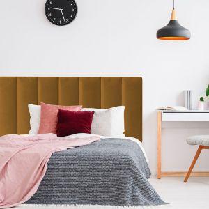 Mustard Velvet Panelled Upholstered Bedhead | All Sizes | Custom Made by Martini Furniture