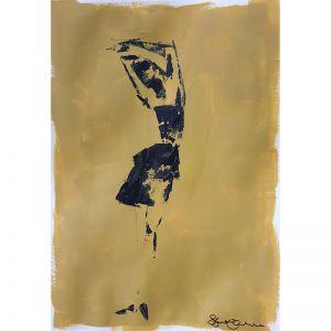 Mustard Vogue 01| Original Artwork | Unframed | Katrina Okoronkwo