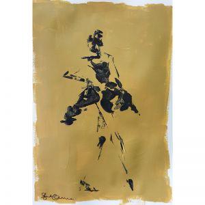 Mustard Vogue 03 | Original Artwork | Unframed | Katrina Okoronkwo