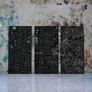 My Town Decorative Laser Cut Privacy Screens| by Lump Sculpture Studio