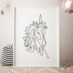 Mythical   Unicorn Art Print   Framed or UnframedUnicorn