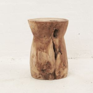 Nail Head Tree Stump Stool