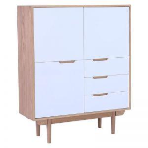NAKULA 110cm White Sideboard Tall
