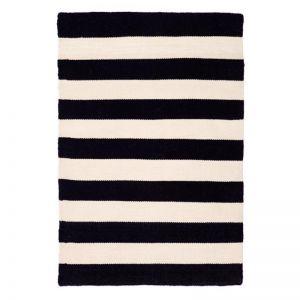 Nantucket Black and White | Indoor Outdoor Stripe Rug | Fab Habitat