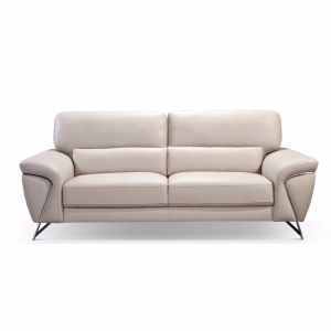 Napoli Leather Sofa 3 Seater | Beige