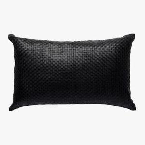 Nappa Rectangle Cushion | Black