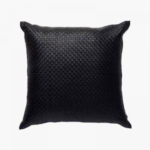 Nappa Square Cushion | Black