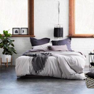 Natal Linen Quilt Cover Set | Silver Grey