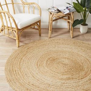 Natural Flatwoven Jute Circle   Pre Order for LATE October 2020