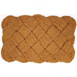 Natural Handmade Knotted Rope Woven Coir Doormat 45cm x 75cm | Pepperfry