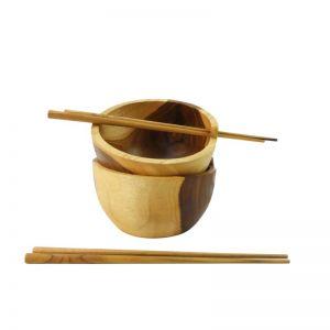 Natural Teak Soul Bowl With Chopsticks | OMG I WOULD LIKE