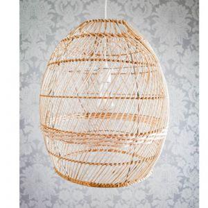Natural Woven Rattan Pendant Light (52cm)
