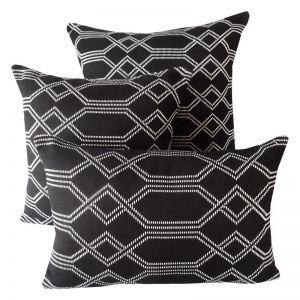 Navajo Black   Sunbrella Fade and Water Resistant Outdoor Cushion