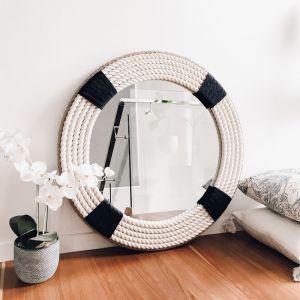 Navy Classic Rope Mirror