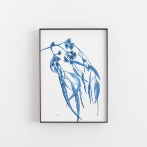Navy Gum Leaf Fauna 2 Art Print by Pick a Pear | Unframed