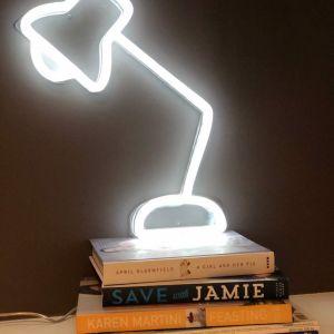 Neon Desk Lamp | White Facing Left