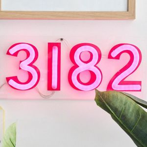 Neon Postcode Light | Custom Colours and Postcodes