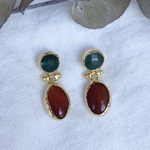 Neri Double Drop Earrings