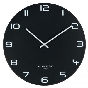 Nero Black 60cm SILENT Wall Clock
