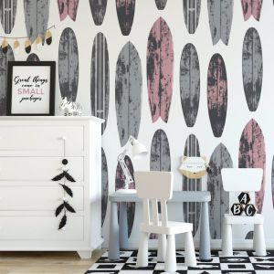 Never Be Board - Nature's Child | Eco Wallpaper | Pink | Amba Florette