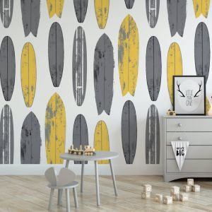 Never Be Board - Nature's Child | Eco Wallpaper | Yellow | Amba Florette