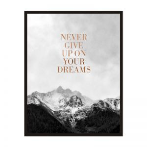 Never Give Up On Your Dreams | Framed Print | Artefocus