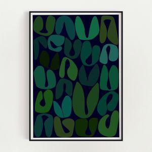 New Life Art Print   Green
