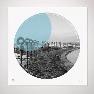 Newcastle Ocean Baths | Circle Print by Burbia
