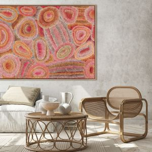 Ngapa Jukurrpa IV Red | Canvas Art Print