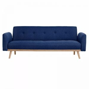 Nicholas 3-Seater Foldable Sofa Bed | Blue
