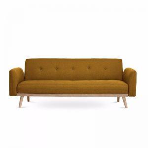 Nicholas 3-Seater Foldable Sofa Bed | Yellow