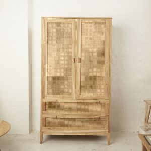 Nilsen Rattan and Teak Wardrobe l Custom Made