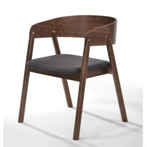 Nima Arm Chair Dining Chair | Walnut | Modern Furniture