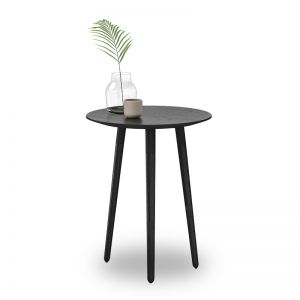 Nochio Black Oak Round Side Table