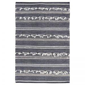 Noir Charcoal Hand Woven Wool Rug
