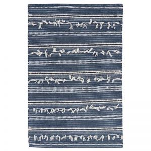 Noir Denim Blue Hand Woven Wool Rug