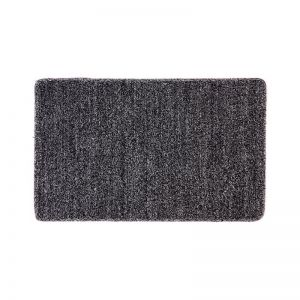 Nonslip Multipurpose Floor Mat   Absorbent Polycot   Black