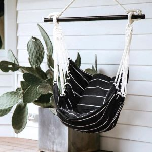 Noosa Hammock Swing | Black & White | by Collective Sol