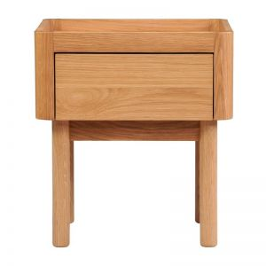 Norah Bedside Table | Oak | Life Interiors