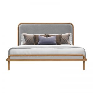 Norah Queen Bed | Oak | Light Grey